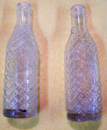 Orange Dandy Co. bottle with diamond pattern
