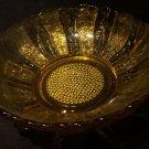 Amber glass large fruit bowl