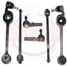 Front Suspension Steering Kit Tie Rod Ends Control Arms RH & LH Saturn SC SL SW