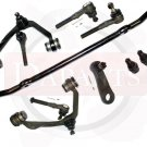 New Kit Steering Suspension 2 Upper Control Arm Center Link Ball Joints Rack End
