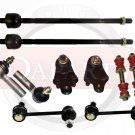 1991 Toyota Corolla Front Rear Suspension Steering Kit Sway Bar Links RH & LH