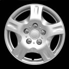 """Wheel Covers 15"""" Inches Silver Lacquer Retention Ring Installation ABS Plastic"""