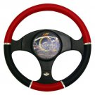 Red Chrome Black Steering Wheel Protector Comfortable Material Brand New