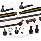 FORD  F-250 4WD New Front Suspension Steering Kit Tie Rod Ends Shock Absorbers