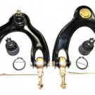 2 Front Upper Control Arms Ball Joints Assembly & 2 Lower Arm Ends Right Left