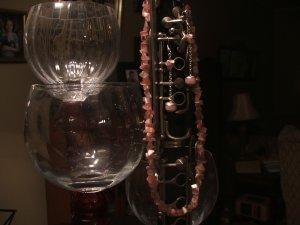 rose quartz chip necklace