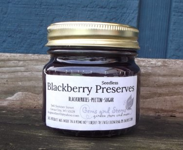 BLACKBERRY PRESERVES � ½ pint � seedless   ~gemsandstems.info~