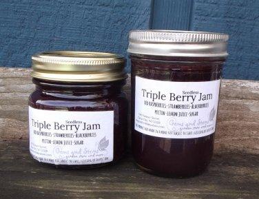 TRIPLE BERRY JAM � ½ pint � seedless   ~gemsandstems.info~