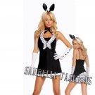 5pc Black Tie Bunny Costume - Medium
