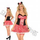 3pc Miss Mouse Costume - 1X/2X
