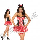 3pc Miss Mouse Costume - Medium