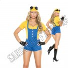 4pc Sexy Subordinate Minion Costume - Small
