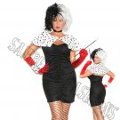 6pc Sexy Dog Napper Cruella De Vil Costume - 3X/4X