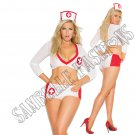 3pc- Sexy Nurse Heart Breaker Lingerie Costume - Queen/Plus Size