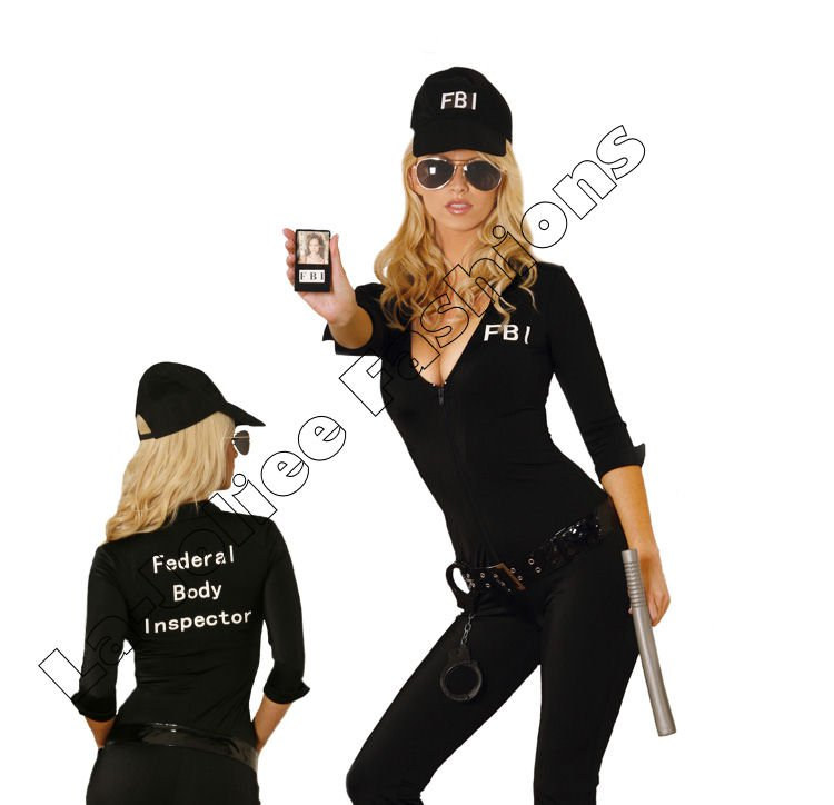 7pc Sexy FBI Agent Costume - Small