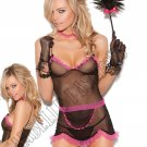 4pc Chamber Maid Bedroom/Lingerie Costume - One Size