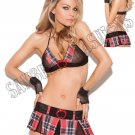 2pc Ready for Recess School Girl Bedroom/Lingerie Costume - One Size