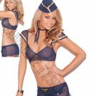4pc Mile High Mistress Flight Attendant Bedroom/Lingerie Costume - One Size