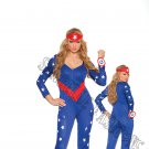 3pc American Hero Superhero Costume - Medium