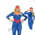 3pc American Hero Superhero Costume - 1X/2X