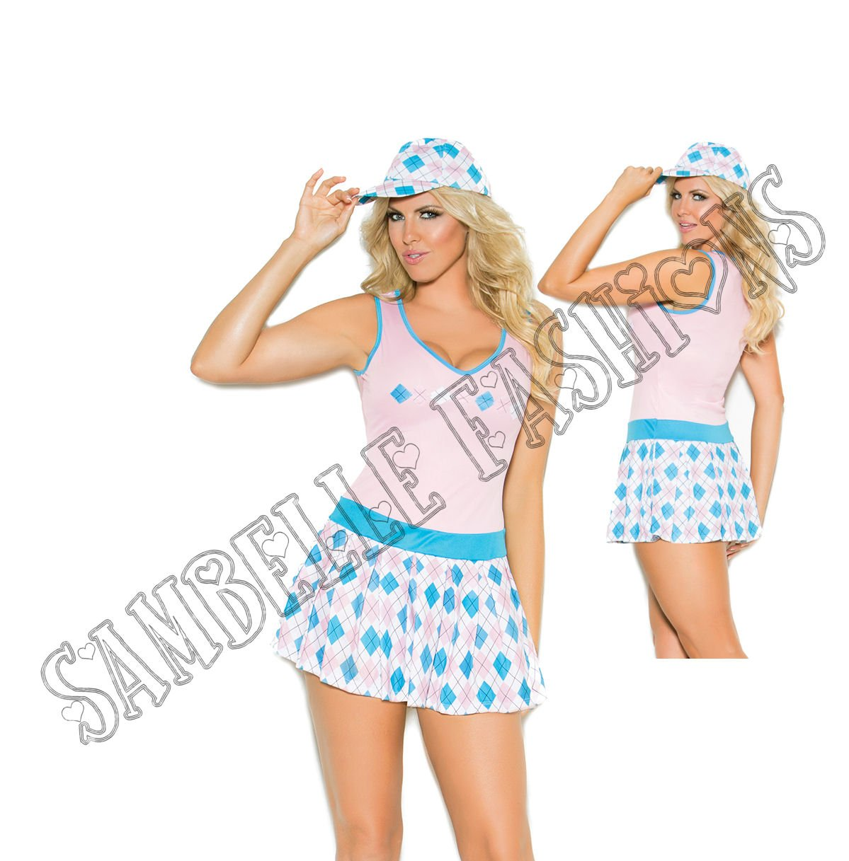 2pc Golf Tease Golfer Costume - 1X/2X