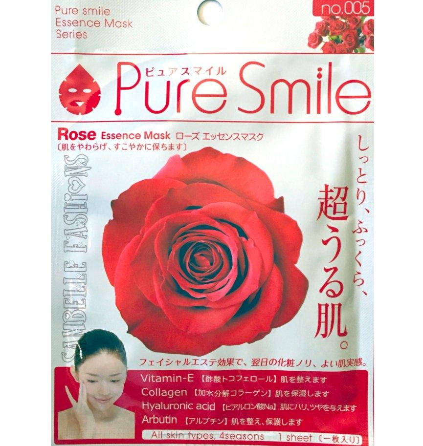 Pure Smile Rose Essence Face Mask - 1 sheet