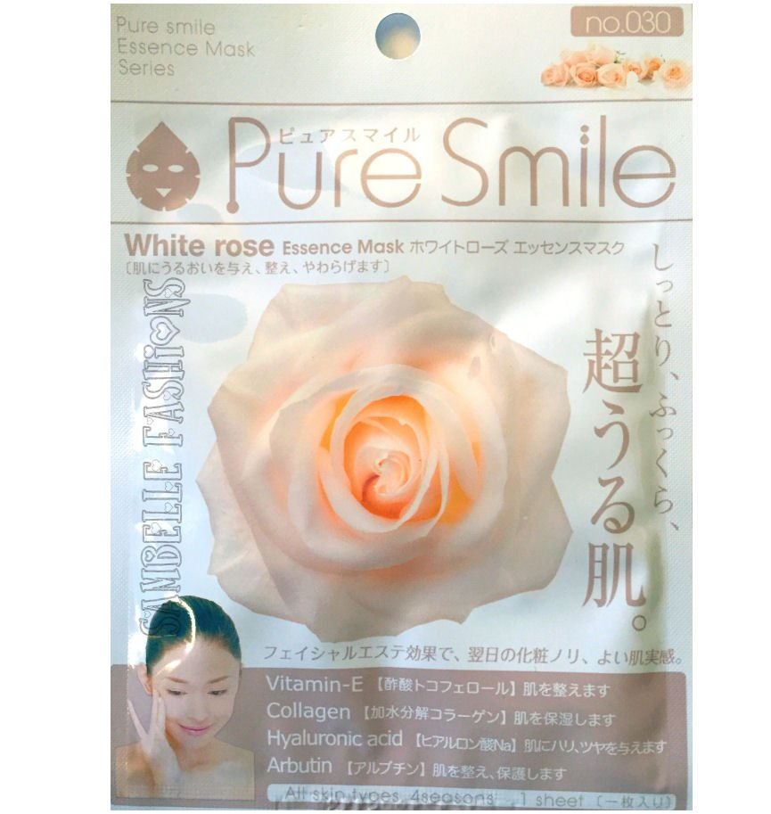Pure Smile White Rose Essence Face Mask - 1 sheet