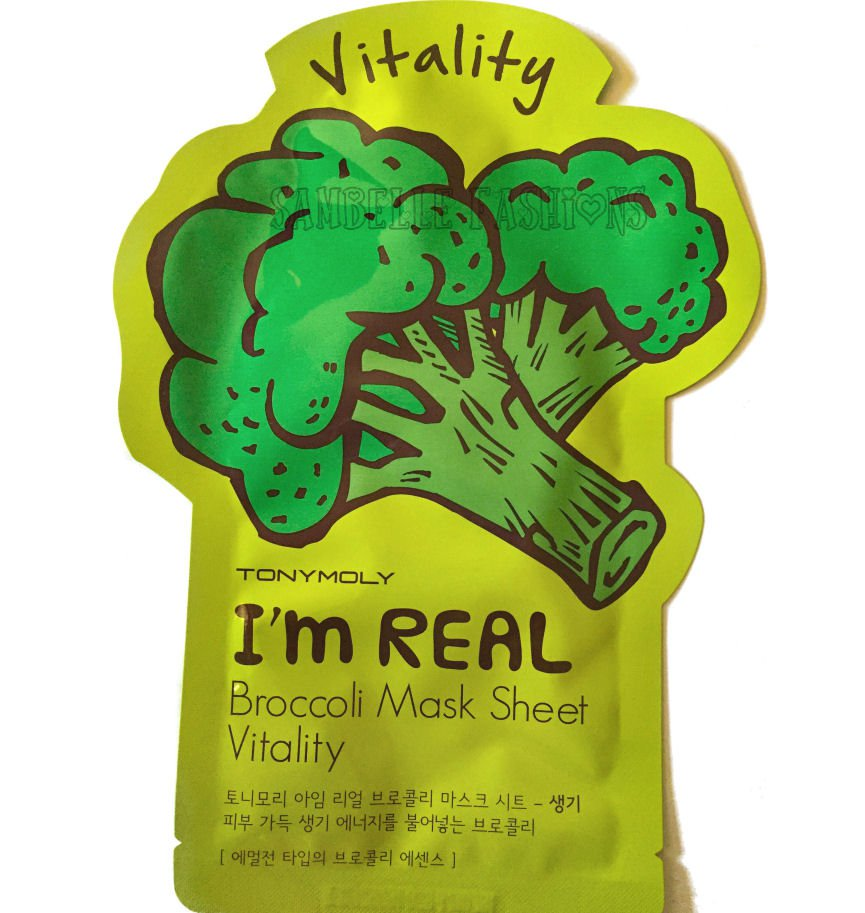 TonyMoly Vitality Broccoli Essence Face Mask - 1 Sheet