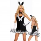 5pc Black Tie Bunny Costume - Large