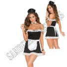 4pc Sexy Maid Costume - S/M