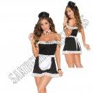 4pc Sexy Maid Costume - M/L