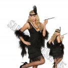 2pc 1920s 20s Flapper Costume - Large