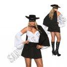 4pc Daring Bandit Zorro Costume - 3X/4X
