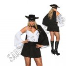 4pc Daring Bandit Zorro Costume - 1X/2X