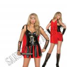 2pc Sultry Spartan Roman Soldier Costume - Medium