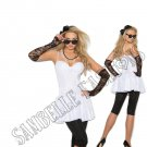 6pc 1980s 80s Rock Star Costume - Large