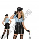 4pc Officer Lawless Police Costume - Large