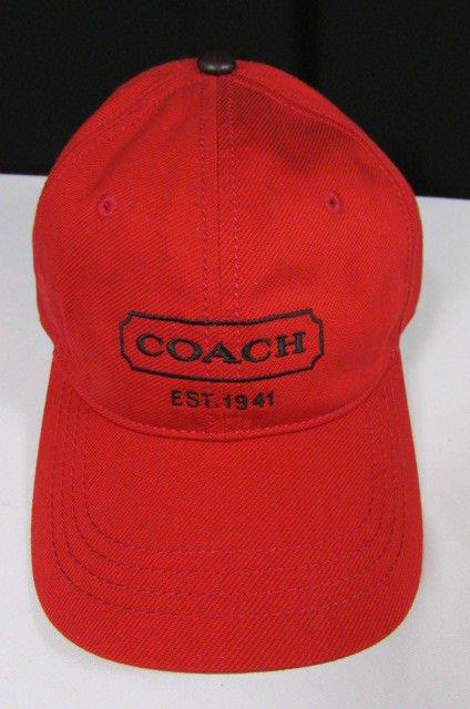 60bc43bcd506b NEW COACH MEN WOMEN RED FASHION CAP CANVAS HAT BASEBALL ONE SIZE F83656