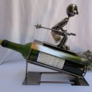 New Metal Sculpture Wine Bottle Holder Sport Football Baseball Basketball Ski