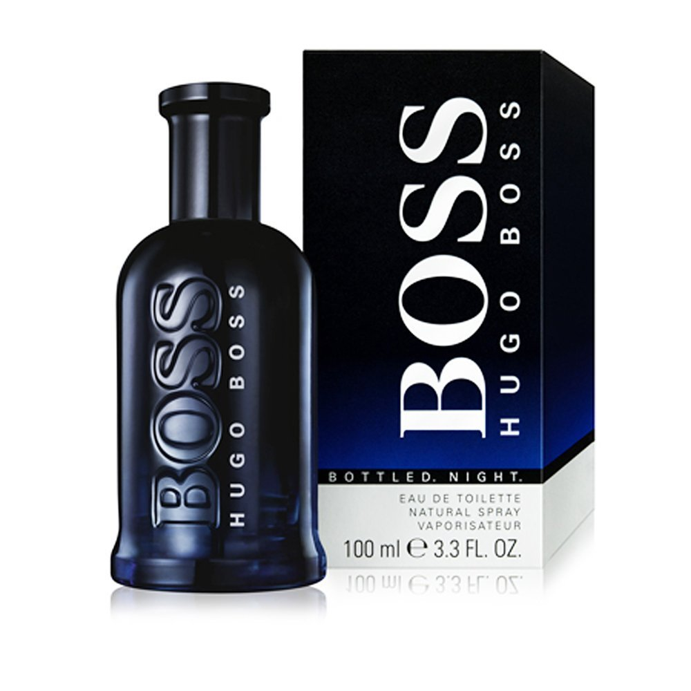 Hugo Boss Bottled Night Eau de Toilette Spray for Men, 3.3 Ounce