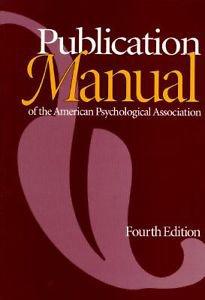 Publication Manual American Psychological Assoc. 4th Ed