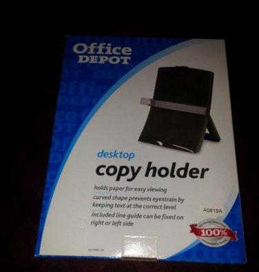 Brand New OFFICE DEPOT DESKTOP COPY HOLDER In Box