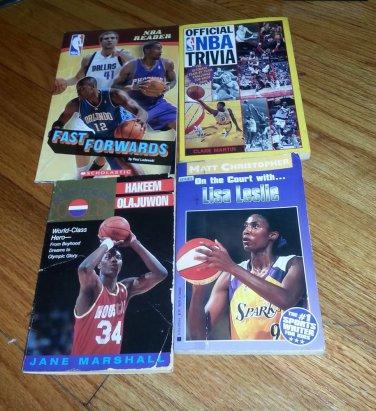 4 books Official NBA Trivia, Fast Forwards,Lisa Leslie,Going For Gold Hakem Olaj