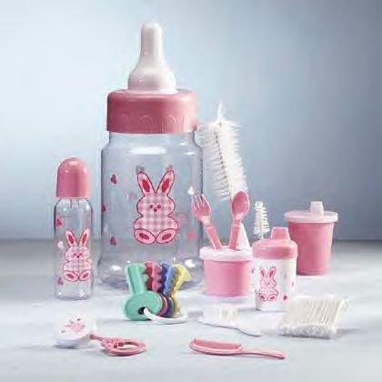 Pink Baby Bottle Gift Set    IDEM # 34193