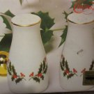 Christmas Treasury Porcelainware Holly Salt and Pepper Shaker