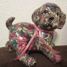 Christy's Critters DJ ceramic dog figurine