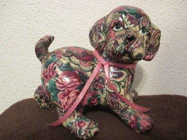 Christy's Critters DJ ceramic dog figurine