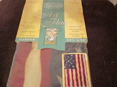 "Toland Art Flag Freedom's Gate 12.5"" x 18"""