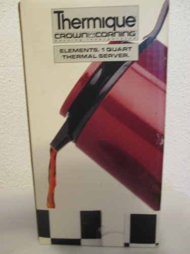 Thermique Crown Corning Burgundy 1 qt thermal server