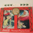 Coca Cola Nostalgia Playing Cards Santa Claus 2 decks in tin